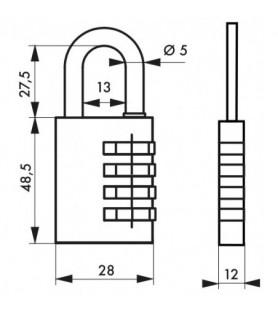 Kłódka SP 258 28 mm