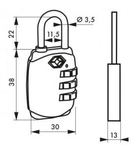KŁÓDKA TSA 30 mm