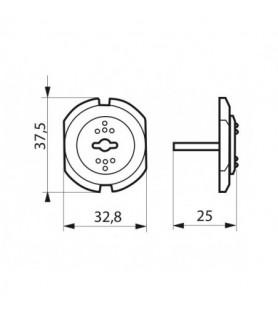 Rysunek techniczny - Zaślepka do gniazdka elektrycznego | 12 sztuk Thirard