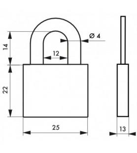 Kłódka bagażowa RUCK 25 mm Thirard