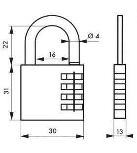 2 kłódki szyfrowe VENUS 30 mm + kłódka szyfrowa Nomad | Thirard
