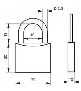 Kłódka TYPE 1 20 mm Thirard