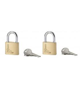 Komplet 2 kłódek TYPE 1 30 mm Master Key | 4 klucze Thirard