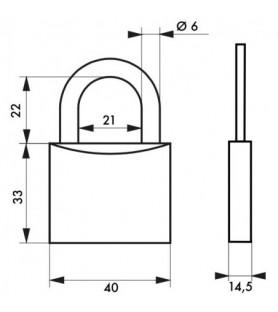 Kłódka TYPE 1 40 mm Thirard