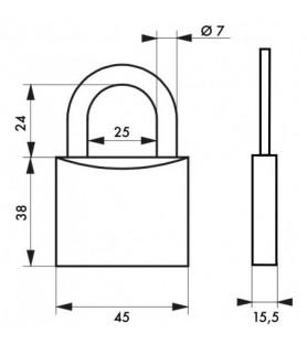 Kłódka na klucz TYPE 1 45 mm Thirard