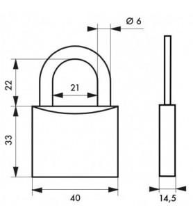 Kłódka mosiężna TYPE 1 40 mm Thirard