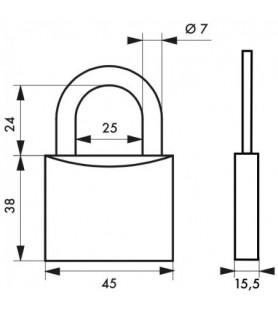 Kłódka mosiężna TYPE 1 45 mm Thirard