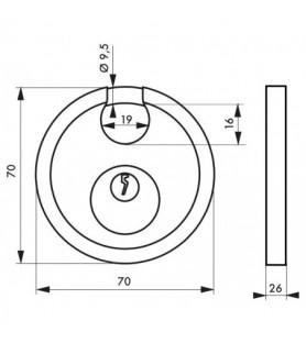Kłódka ASTRA 70 mm stalowy kabłąk Thirard