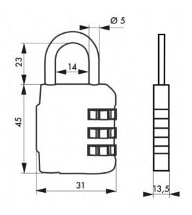 Kłódka COMPACT 03 • 31 mm...