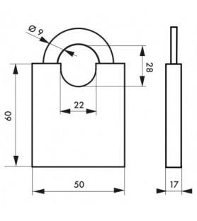 Kłódka SHOULDER 50 mm