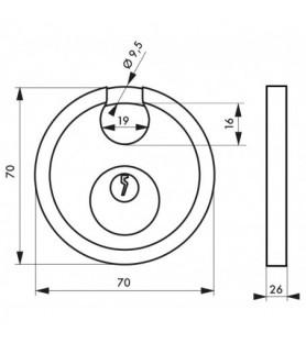 Kłódka ASTRA 70 mm kabłąk...