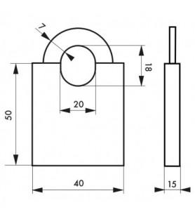 Kłódka MARINOX 40 mm