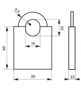 Kłódka MARINOX 50 mm