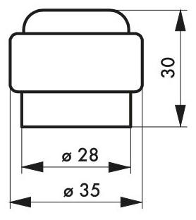 Odbojnik Ø 35 mm z plastiku
