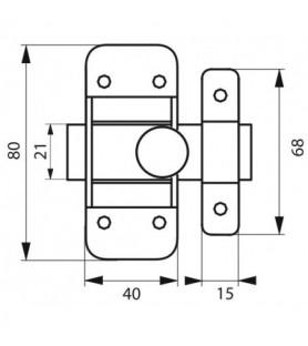 Zasuwka ocynkowana 45 mm
