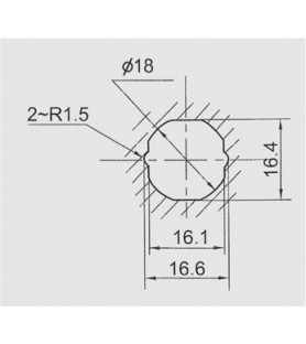 Zamek skrzynkowy, krzywka zagięta, grubość max. 12 mm | Thirard