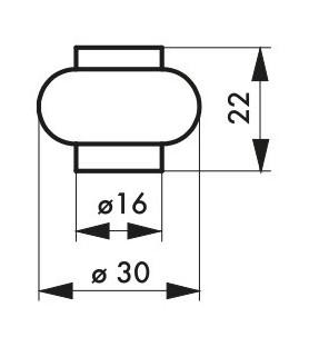 Odbojnik podłogowy Ø 30 mm