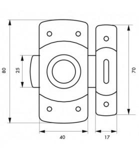 Zasuwka meblowa VERROU 40 mm chrom | Thirard