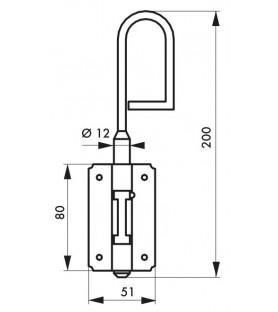 Zasuwa trzpieniowa 12 x 200 mm