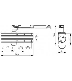 Samozamykacz hydrauliczny DESIGN odwracalny biały Thirard  siła 3