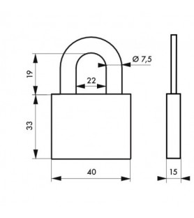 Kłódka 510 • 40 mm