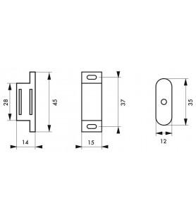 Zatrzask magnetyczny, siła 1