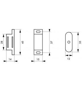 Zatrzask magnetyczny, siła 2