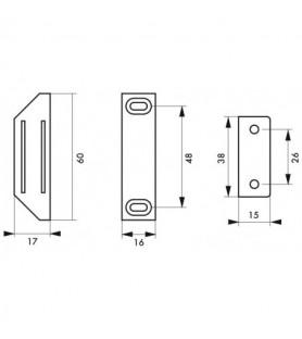 Zatrzask magnetyczny, siła 3