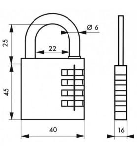 Kłódka RB 40 mm mosiężna