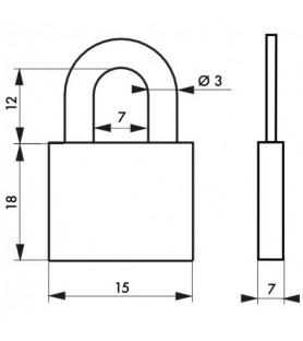 Kłódka RUCK 15 mm